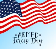 Vector illustration of Day of armed forces in the USA. Background. graphic design for decoration posters, cards, gift. Armed forces day in USA. american holiday Royalty Free Stock Photos