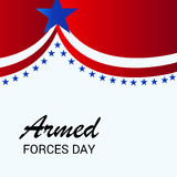 Armed Forces Day. Vector illustration of a Banner for Armed Forces Day Royalty Free Stock Image