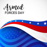 Armed Forces Day. Vector illustration of a Banner for Armed Forces Day Stock Image
