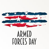 Armed Forces Day. Vector illustration of a Banner for Armed Forces Day Stock Photography