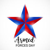 Armed Forces Day. Vector illustration of a Banner for Armed Forces Day Royalty Free Stock Photography