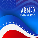 Armed Forces Day. Vector illustration of a Banner for Armed Forces Day Royalty Free Stock Photos