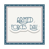 Armed Forces Day. Vector illustration of a Banner for Armed Forces Day Stock Images
