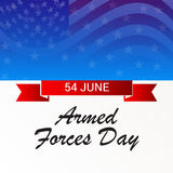 Armed Forces Day. Vector illustration of a Banner for Armed Forces Day Royalty Free Stock Images