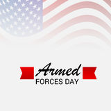 Armed Forces Day. Vector illustration of a Banner for Armed Forces Day Stock Photo