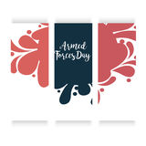 Armed Forces Day. Vector illustration of a Banner for Armed Forces Day Royalty Free Stock Photo