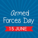 Armed Forces Day. Vector illustration of a Banner for Armed Forces Day Stock Photos