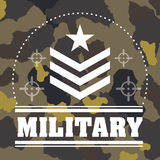 Armed forces design. Armed forces concept  with military icons design, vector illustration 10 eps graphic Royalty Free Stock Images