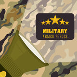 Armed forces design Stock Image