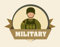 Armed forces design. Armed forces concept with military icons design, vector illustration 10 eps graphic royalty free illustration