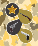 Armed forces design Stock Images