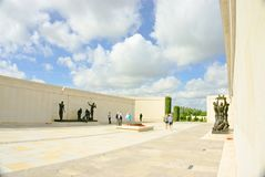 Armed forces memorial. The Armed Forces Memorial is a national memorial in the United Kingdom, dedicated to the 16,000 servicemen and women of the British Armed Royalty Free Stock Photography