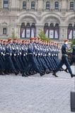Armed Forces of the Russian Federation. Stepped across the Red Square. Moscow Victory Parade of 2008 Royalty Free Stock Images