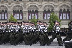 Armed Forces of the Russian Federation. Stepped across the Red Square. Moscow Victory Parade of 2008 Stock Image