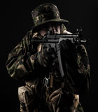 Armed forces. Special forces in the dark Stock Photos