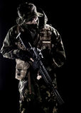 Armed forces. Special forces in the dark Stock Images