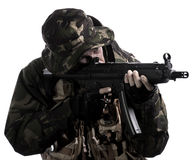 Armed forces. Special forces in the dark Royalty Free Stock Photos