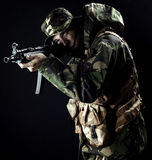 Armed forces. Special forces in the dark Royalty Free Stock Image