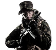 Armed forces. Special forces in the dark Stock Photo