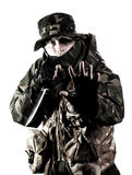 Armed forces. Special forces in the dark Stock Image