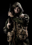 Armed forces. Special forces in the dark Royalty Free Stock Images