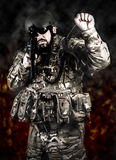 Armed forces. Special forces in urban assault Royalty Free Stock Photography