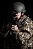 Armed forces. Special forces in urban assault Stock Photo