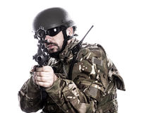 Armed forces. Special forces in urban assault Stock Photography
