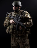 Armed forces. Special forces in urban assault Stock Images