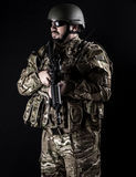 Armed forces. Special forces in urban assault Stock Image