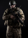 Armed forces. Special forces in urban assault Royalty Free Stock Photos