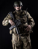 Armed forces. Special forces in urban assault Royalty Free Stock Photo