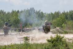Armed Forces of Ukraine at the military training area Stock Image