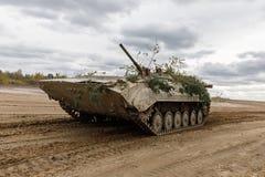 Armed Forces of Ukraine. ZHYTOMYR Reg, UKRAINE - Oct. 14, 2017: Combat training of the Armed Forces of Ukraine in the training center of Zhytomyr region Royalty Free Stock Photos