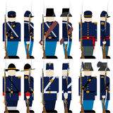 The Armed Forces of the Union army Royalty Free Stock Photos