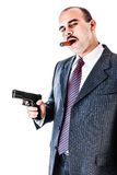 Armed gangster Royalty Free Stock Photo