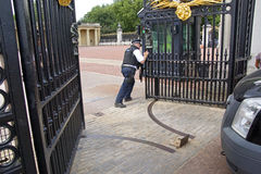 Armed gate security Royalty Free Stock Photos