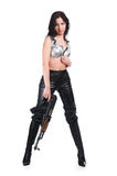 The armed girl Stock Photography