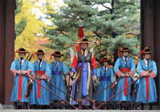 Armed guards at Deoksugung Palace, Seoul, South Korea Stock Photo