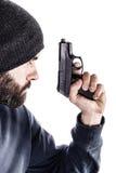Armed guy Stock Photo