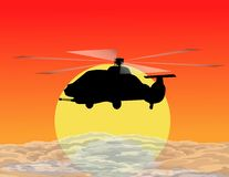 Armed helicopter Royalty Free Stock Images