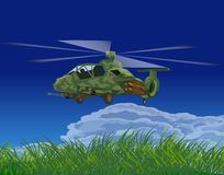 Armed helicopters-illustration Royalty Free Stock Photography