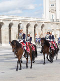 Armed with horse riders, Madrid Royalty Free Stock Photography