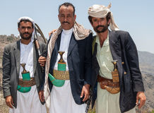 Armed men in Yemen Stock Photos