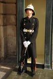 Armed Palace Guard At Ease, Malta. Royalty Free Stock Photo