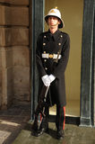 Armed Palace Guard at ease, Malta. Royalty Free Stock Photo