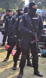 Armed Police. Full-size display of armed police use of firearms Stock Photography
