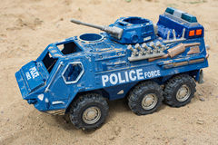 Armed police force vehicle toy Royalty Free Stock Images