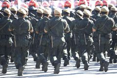 Armed Police Marching Royalty Free Stock Images