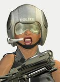 Armed police woman Royalty Free Stock Images